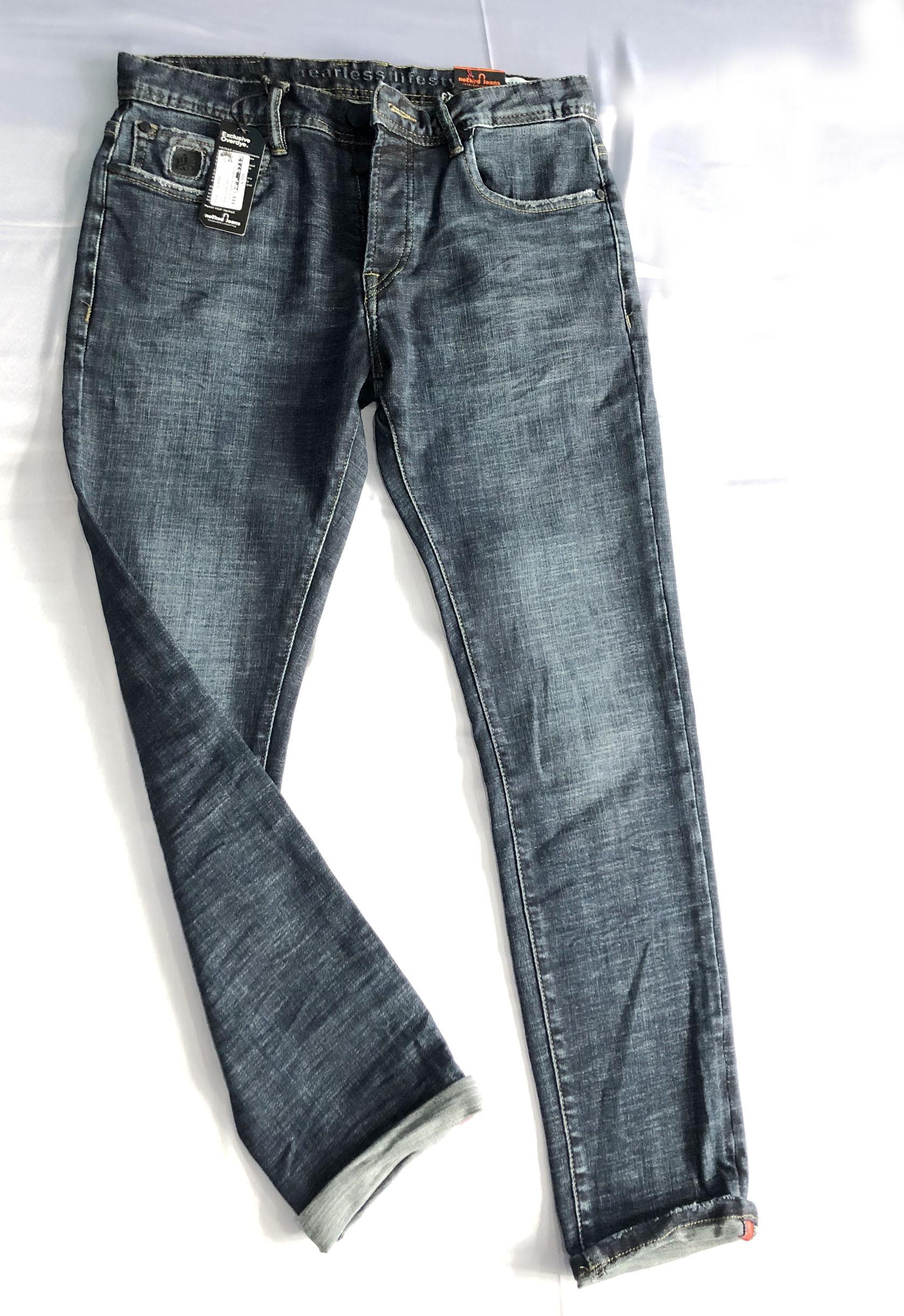 Necked Jeans Skinny Dark Blue