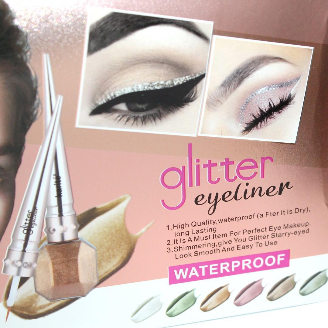 Karite 6 Waterproof Glitter Eyeliner Set - 6-10 Ml