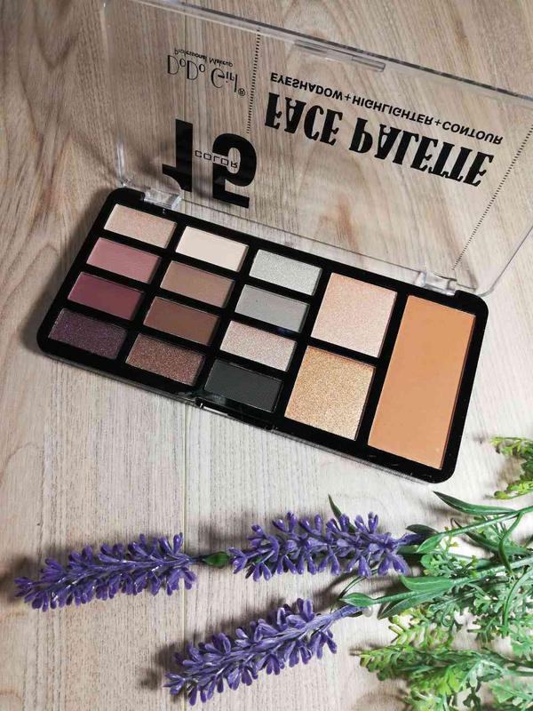 Dodo Girl 15 Eyeshadow, Highlighter, Contour Face Palette-Shade 2
