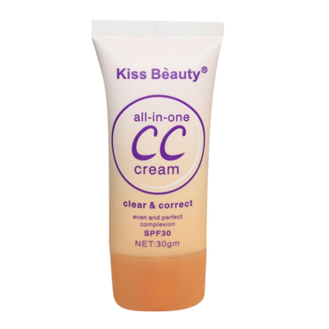 Kiss Beauty Cc 3In1 Foundation Spf30 - Shade No. 1 - 30 Gm