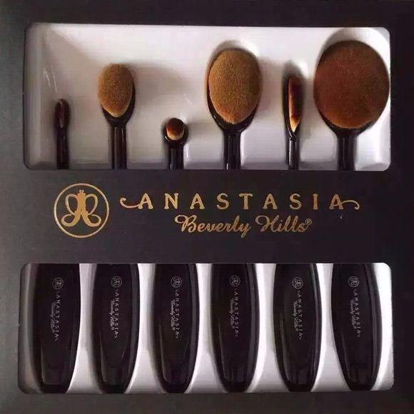 Anastasia beverly hills 6pcs oval makeup brush sets