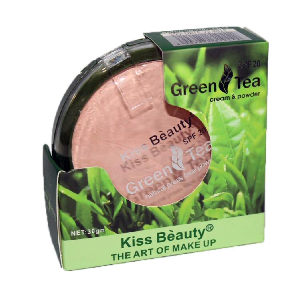 Kiss Beauty Green Tea Cream & Powder Spf20 - Shade No. 02 - 30 Gm