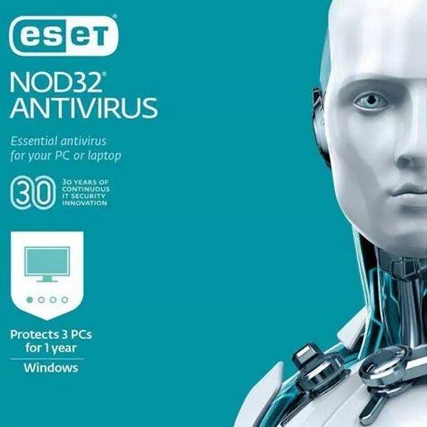 ESET Nod32 Antivirus - 3 User 1 Year