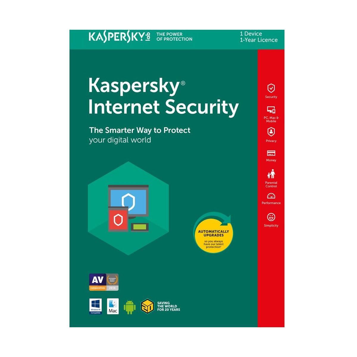 Kaspersky Internet Security- 1 User1 Year