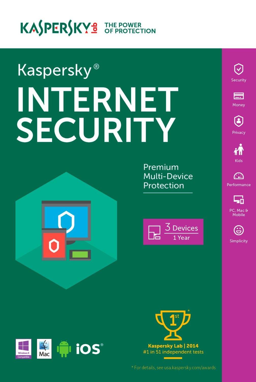 Kaspersky Internet Security- 3 User1 Year