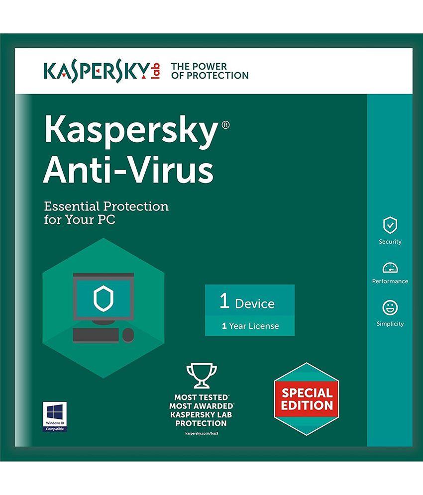 Kaspersky Antivirus- 1 User1 Year