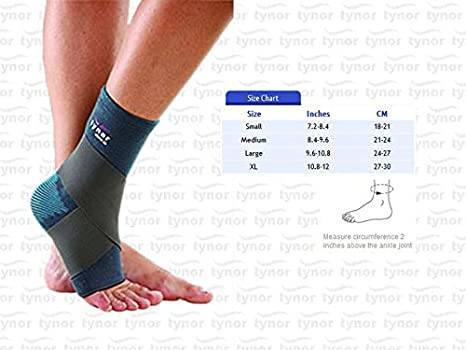 Tynor Ankle Binder - D 01 - Adjustable Ankle Support