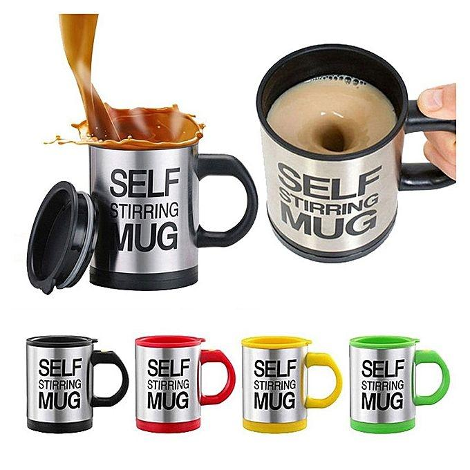 Self Stirring Electric Stainless Steel Mug (Color Assorted)