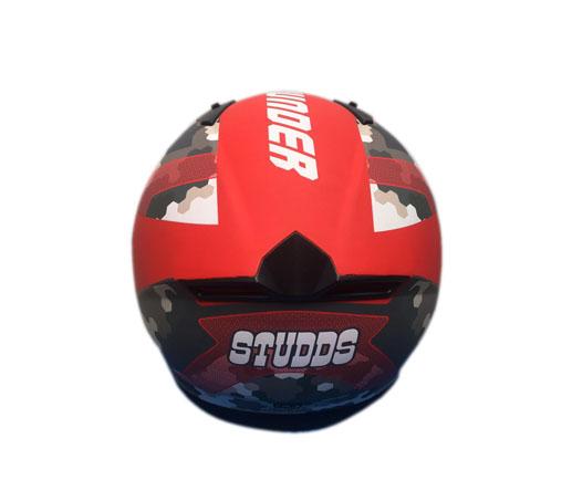 Studds Full Helmet  Red (THUNDER)