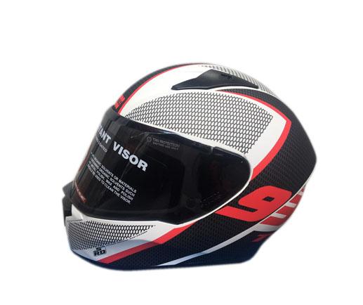 Studds Full Helmet  Black & White (THUNDER)