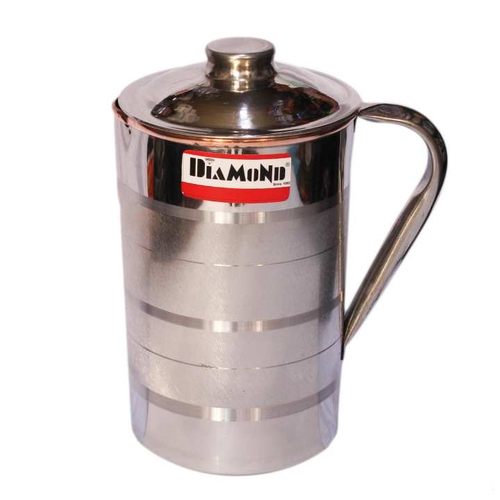 Diamond Stainless Steel With Inner Copper Water Jug ( 1.5 Litre)