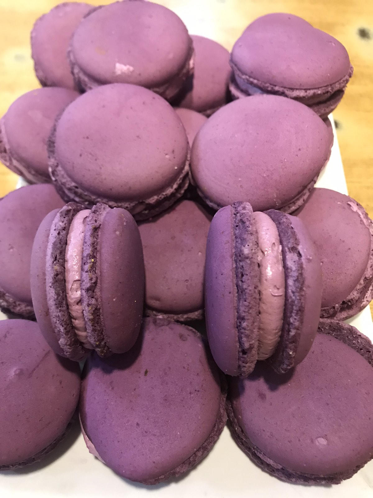 Blueberry Macaroons