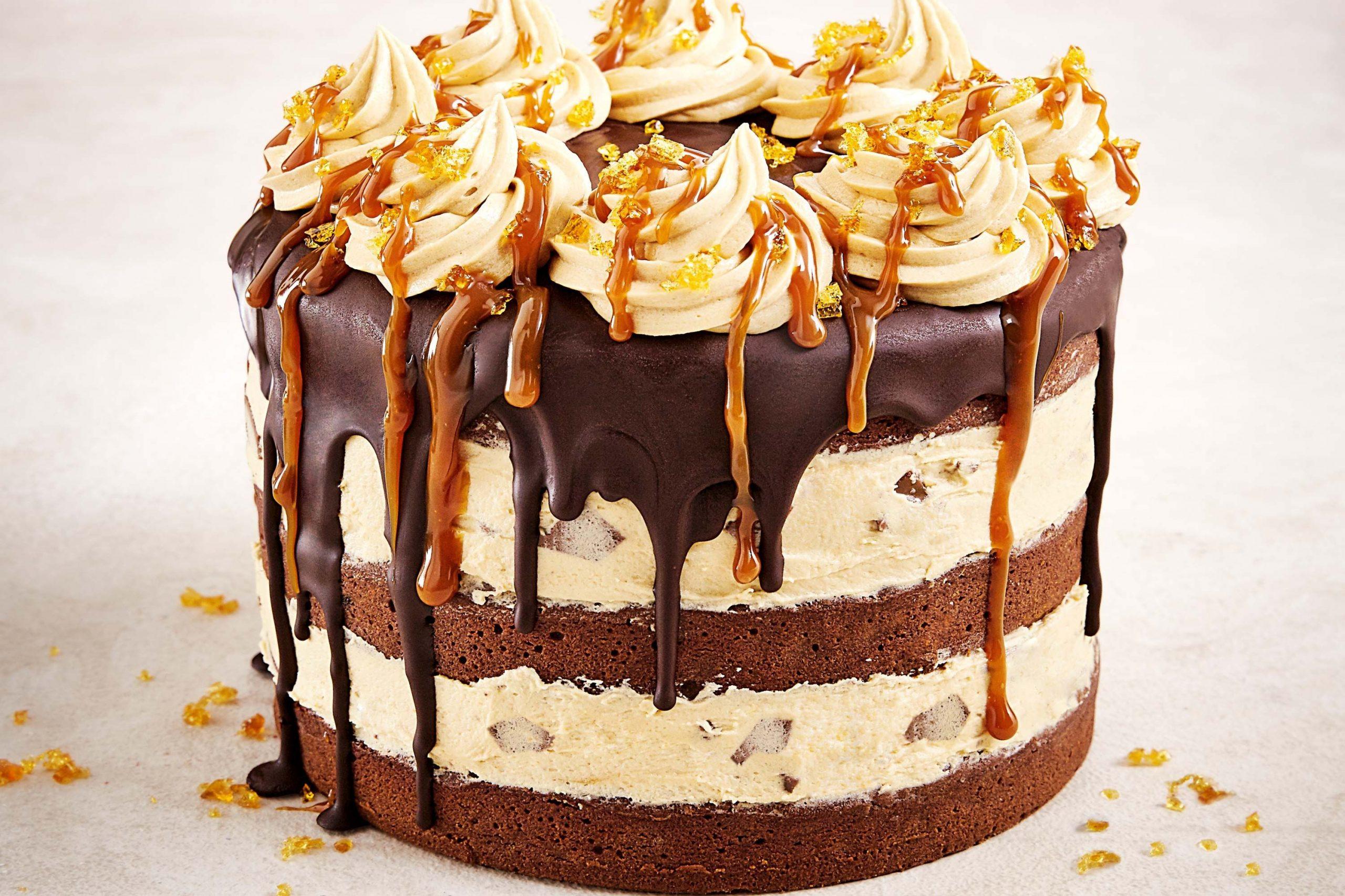 Lemon Pastry Slices Cake