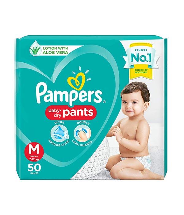 Pampers Pants - Medium (प्याम्पर पाइन्टस) (50pcs)/slab