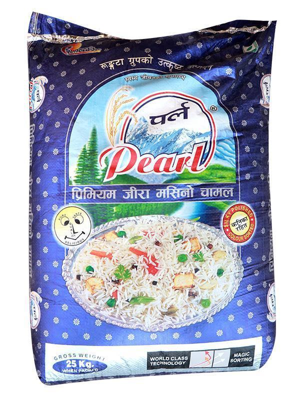 Pearl Jeera Masino Rice (पर्ल जिरा मसिनो चामल) (25kg)