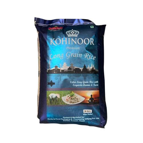 Kohinoor Long Grain Rice (कोहिनूर लङ्ग ग्रेन चामल) (20kg)-bora  - Century PF
