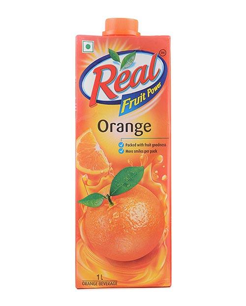 Real Fruit Power Orange Juice (रियल फ्रुट पावर ओरेन्ज जुस) (1Ltr)