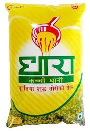 Dhara Mustard Oli-(1 ltr x 10 pcs)/Box