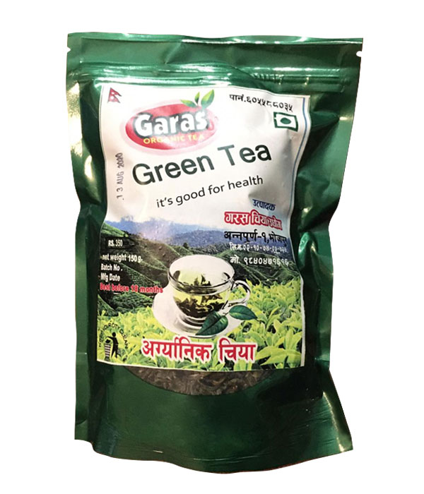 Garas Organic Green Tea- 100 gm