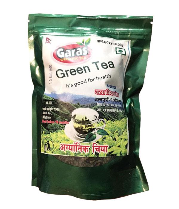Garas Organic Green Tea- 200 gm