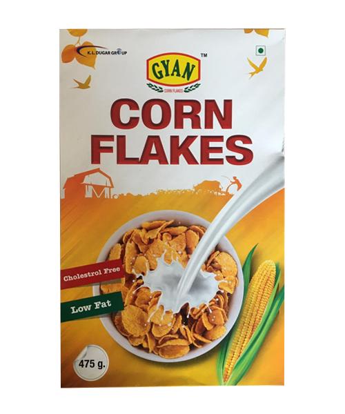 Gyan Corn Flakes (कोर्न फ्लेक्स) (475gm)-pkt