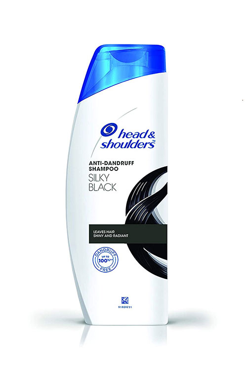 Head & Shoulders Anti-Dandruff Shampoo - Slick Black (हेड एन्ड शोलडर एन्टि-ड्यानड्रफ स्याम्पू) (340ml)-jar