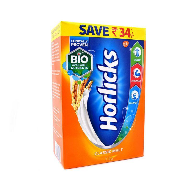 Horlicks (हार्लिकक्स) (1kg)-bib [MRP 713.