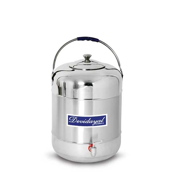 Devidayal Stainless Steel; water pot-25 Ltr