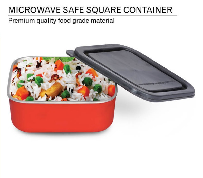 Devidayal Microwave Safe Square Container