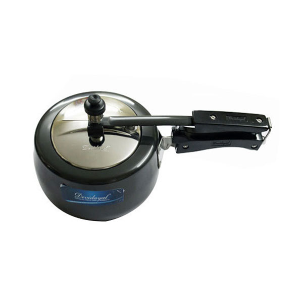 Devidayal Black Hard Anodised Induction Based Pressure Cooker with SS Lid