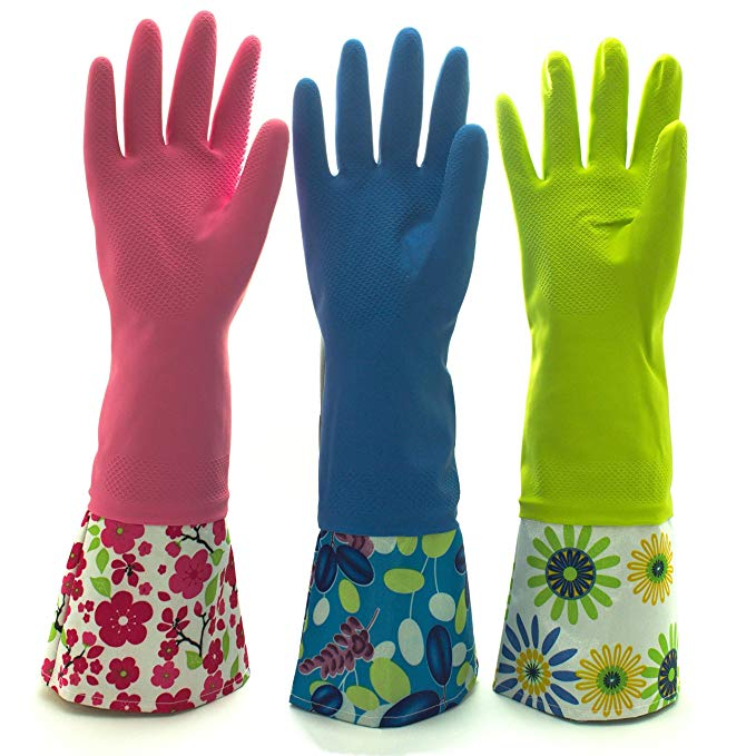 Dish washing Rubber Gloves  Waterproof Household Latex Gloves