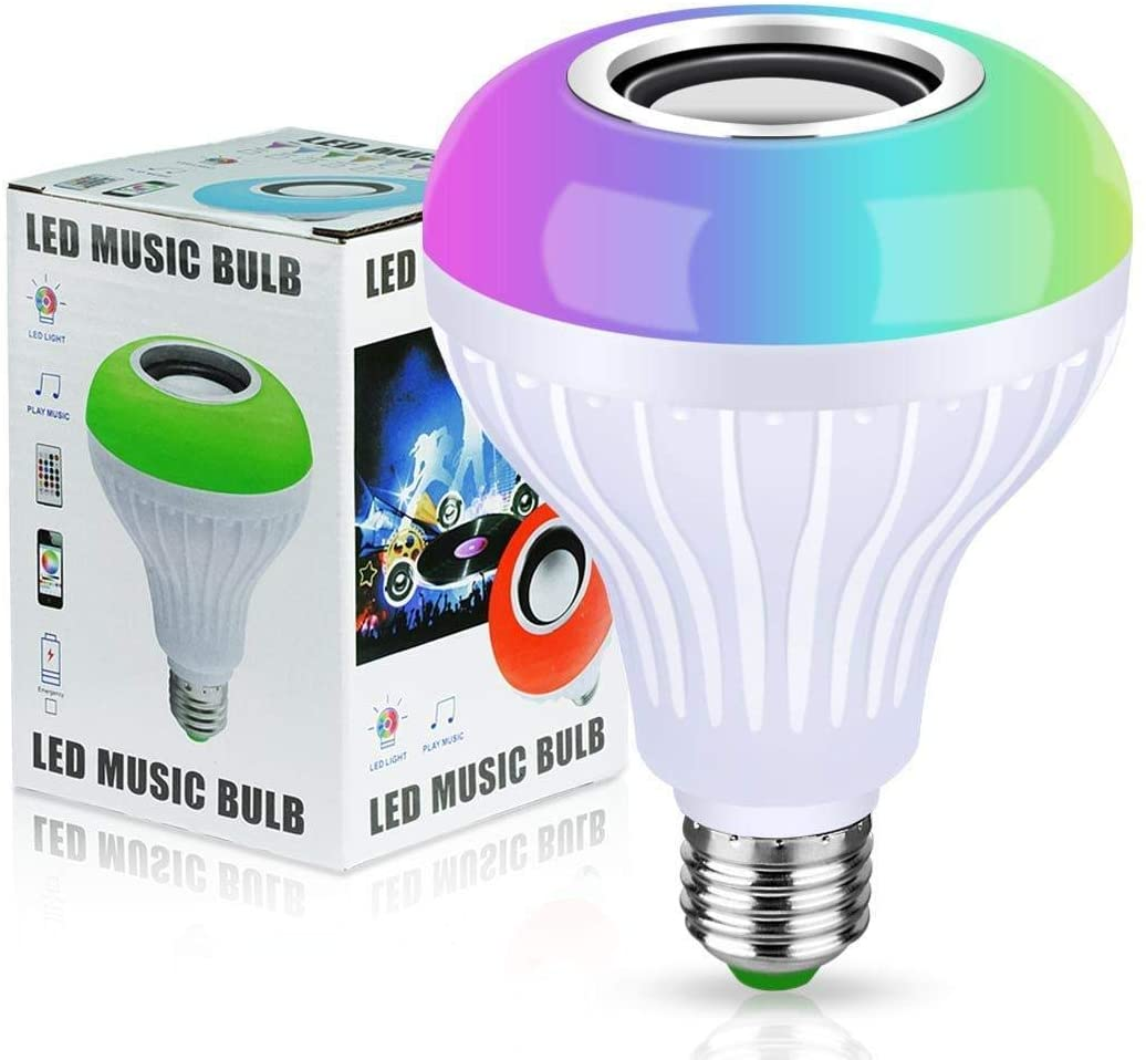 Bluetooth Smart Music Bulb Speaker Wireless 12W Led Rgb Changing With Remote Lamp For Party, Home