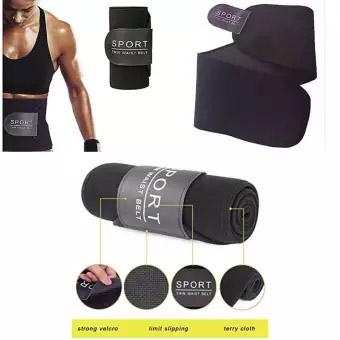 Black Sport Waist Trimmer Weight Loss Slimming Belt