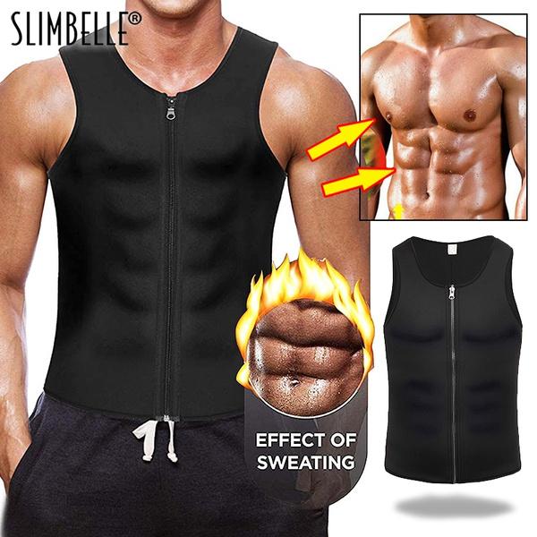 Sauna Sweat Vest Weight Loss Waist Trainer Shapewear Slimming Shirt Workout Suit