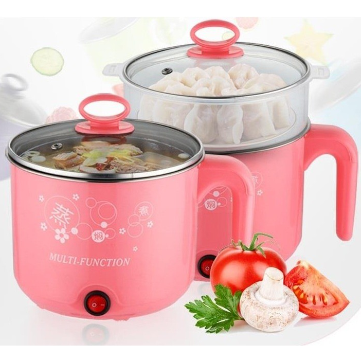 Multi Function Stainless Steel Electric Cooker Steamer Boiler For Tea Soups Eggs Mo:Mo'S . All In One 1.6L
