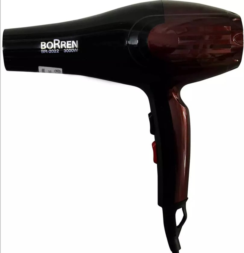 Borren Professional Hair Dryer Ceramic Blow Dryers Salon Powerful Blue Ray Anion Hair Blower 2 Speed And 3 Heat Settings For Hair Styling