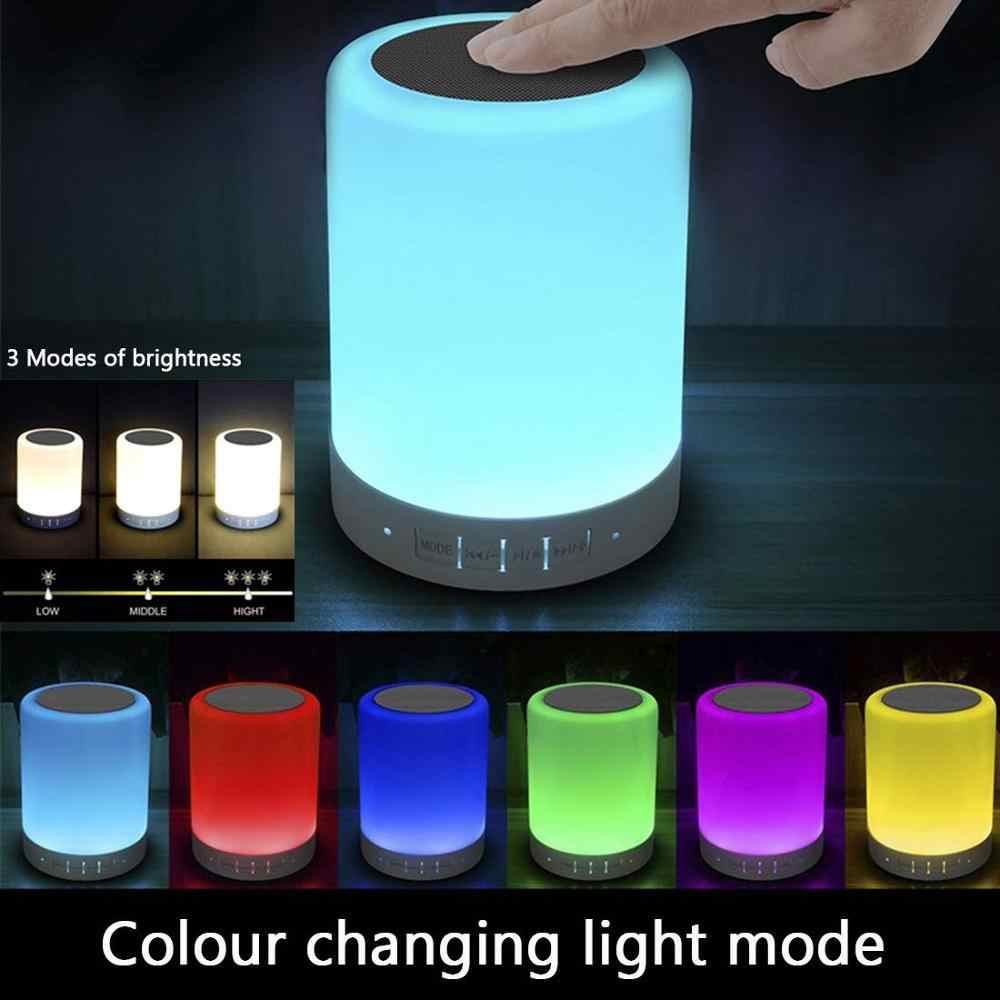 Light Bluetooth Speaker, Portable Wireless Bluetooth Speaker, 6 Color LED Themes Bedside Table Light/Smart Touch Control Speaker