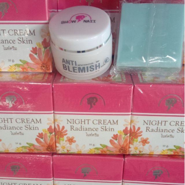 Night Cream Radiance Skin, Anti Blemish Cream