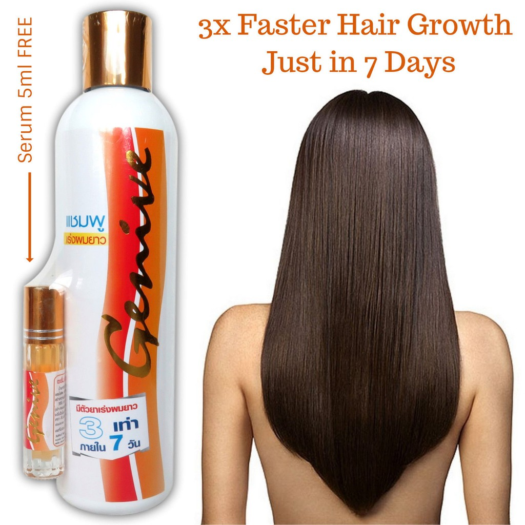 Genive Long Hair Fast Growth Shampoo-265Ml And Conditioner-10Ml Lengthen Faster Longer Care