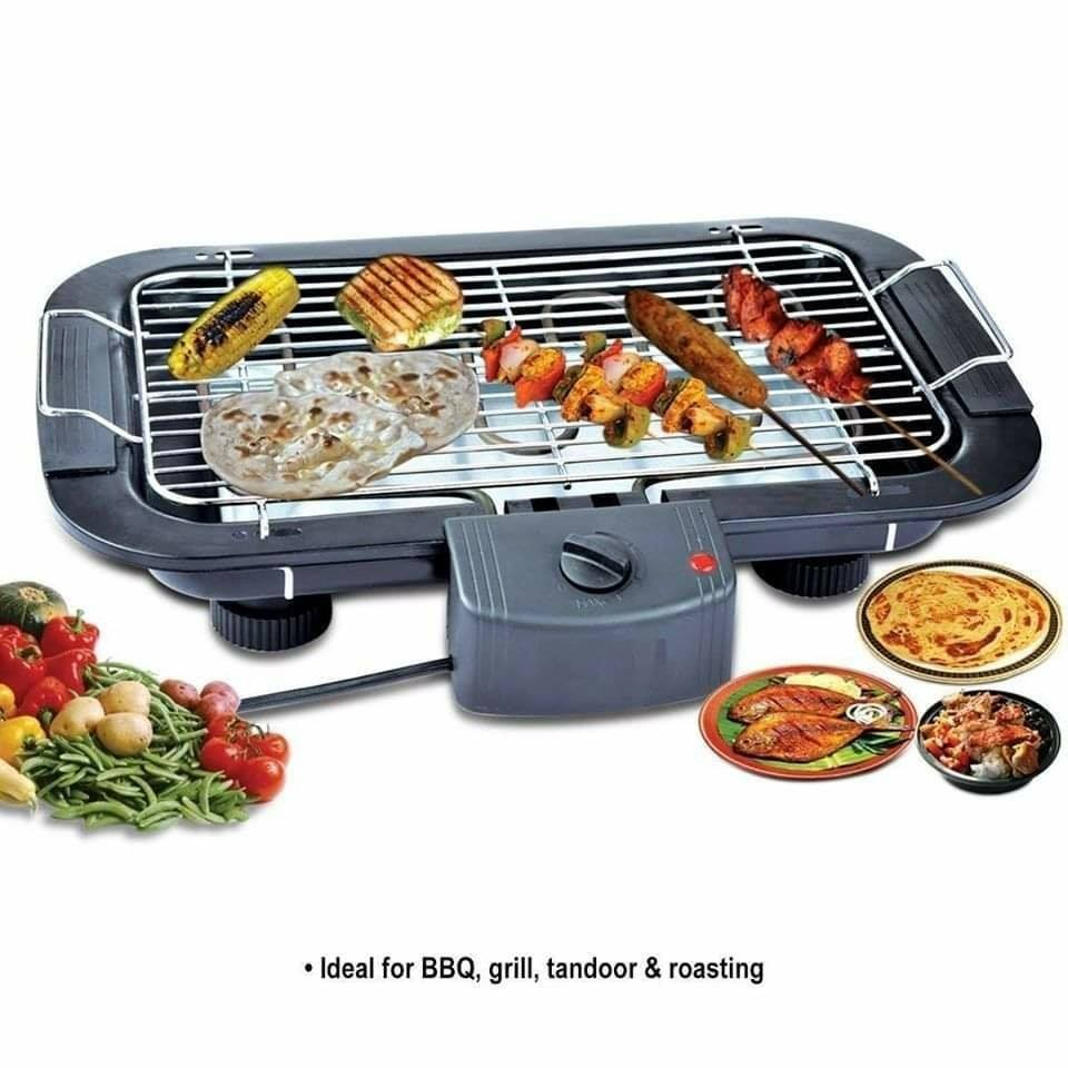 Electric Barbeque Grill Toaster Multi function 2000W Heating Smokeless Carbon Free