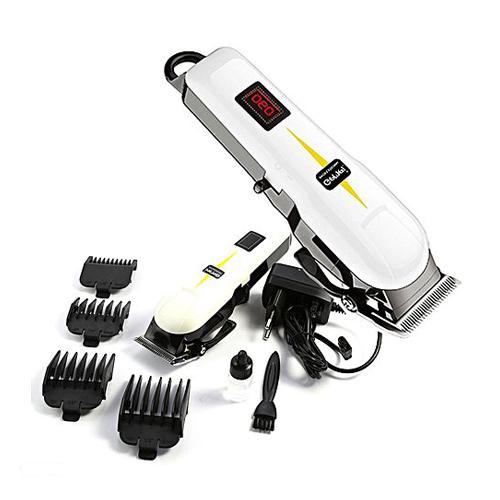 Geemy Professional Hair Clipper, Rechargeable Hair Cutting Machine, Grooming Kit Cordless Hair Clipper Gm 6008