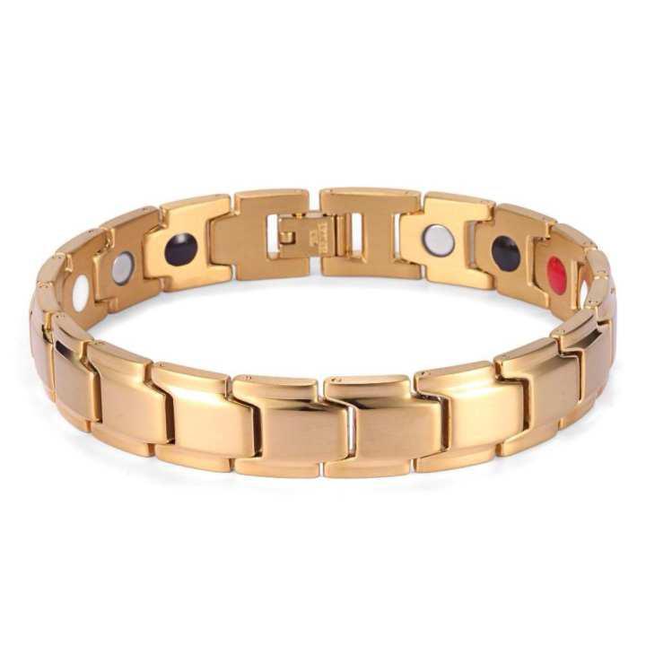 Bio Magnetic Health-Fashion Gold Plated Bracelet