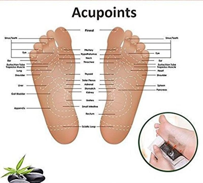 Detox Foot Patches, Body Cleansing, Stress Relief Improve Sleep Quality Enhance Blood Circulation