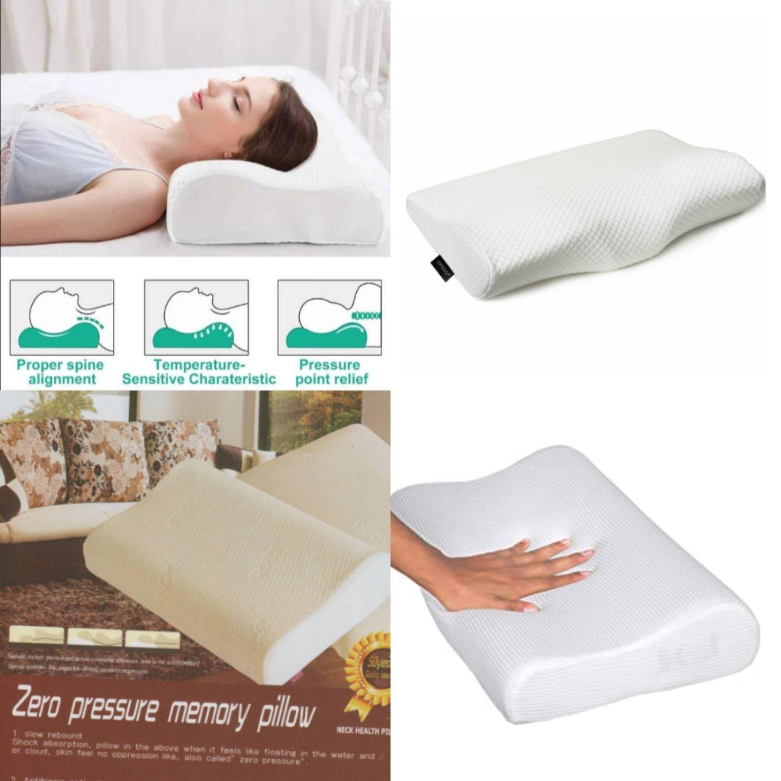 Natural Latex Pillow Sleeping Bedding Cervical Massage Pillow Neck Bonded Care Anti-Snoring Memory Pillow, Zero Gravity Memory Pillow