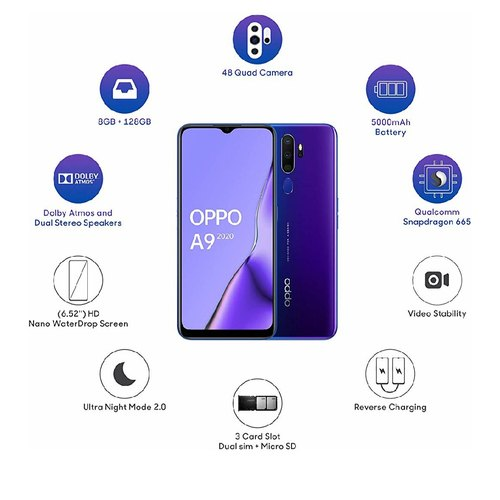 OPPO Mobile Phone A9 -8GB/128GB Memory