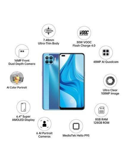 OPPO Mobile Phone  F17 Pro -8GB/128GB Memory