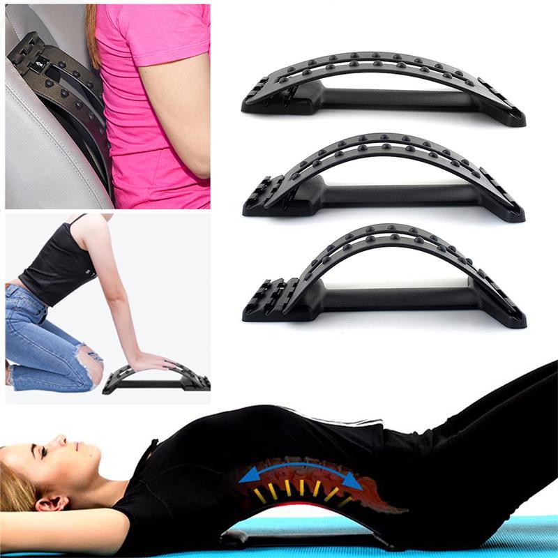 Back Massage Stretcher, Back Massage Fitness Equipment Backbone Stretcher Lumbar Support Spine Pain Relief