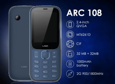 LAVA Arc 108 Dual sim Mobile Phone