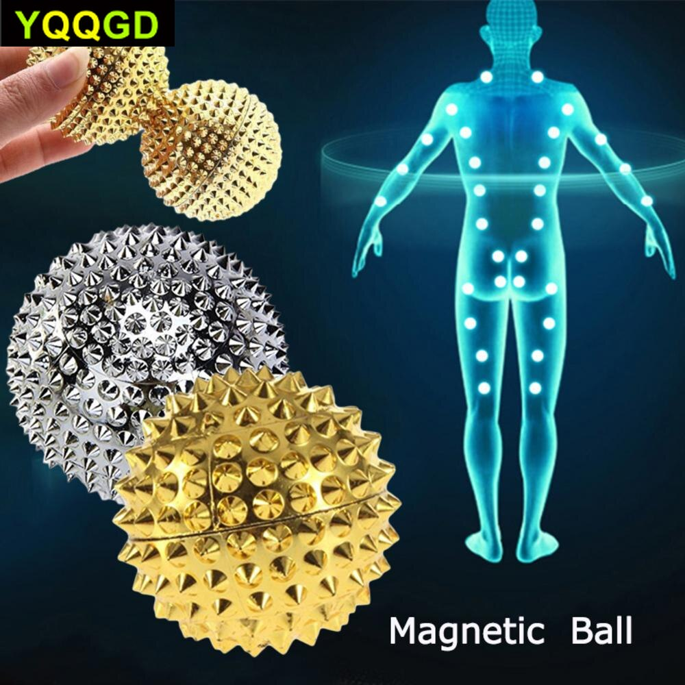 Magnetic Hand Palm Acupuncture Ball Pain Relief Massager Acupressure Health Care 2 Pc