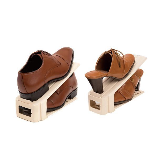 Shoes Rack Plastic Shoes Organizer Adjustable Shoebox Holders Storage